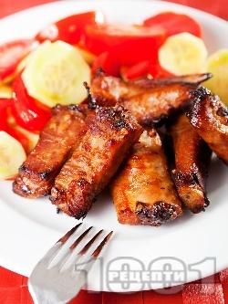Мариновани свински ребърца с червено вино на фурна - снимка на рецептата